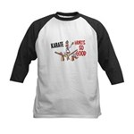Karate Duck 3 Kids Baseball Jersey