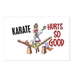 Karate Duck 3 Postcards (Package of 8)