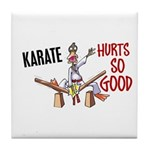 Karate Duck 3 Tile Coaster