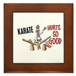 Karate Duck 3 Framed Tile