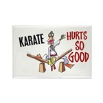 Karate Duck 3 Rectangle Magnet (100 pack)