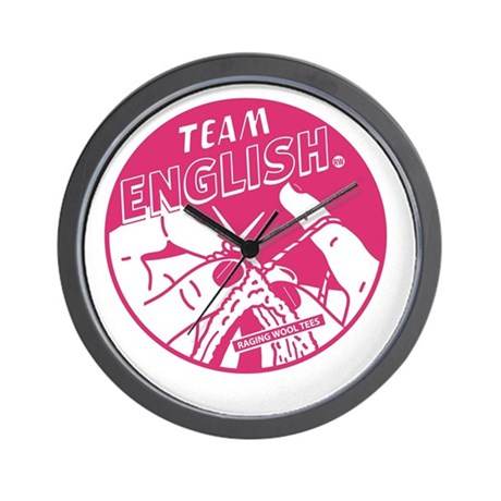 Team English Wall Clock