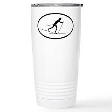 Cross Country Skiing Ceramic Travel Mug