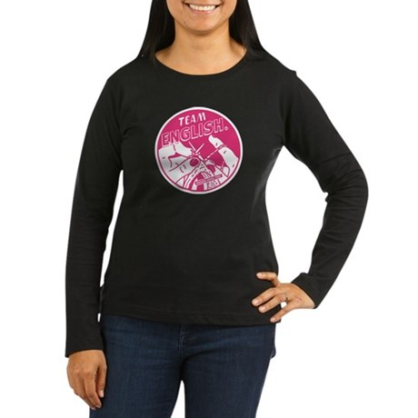 Team English Women's Long Sleeve Dark T-Shirt