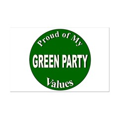 Proud Green Party Values Posters