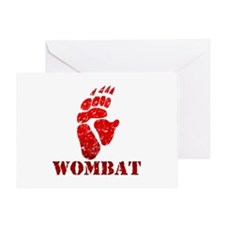 Red Wombat Footprint Greeting Card