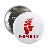"Red Wombat Footprint 2.25"" Button (10 pack)"
