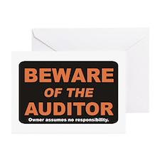 Beware / Auditor Greeting Cards (Pk of 20)