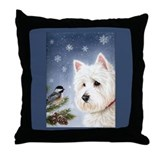 WESTIE WINTER WONDERS Throw Pillow