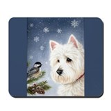 WESTIE WINTER WONDERS Mousepad