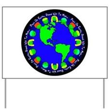 Peas On Earth Yard Sign