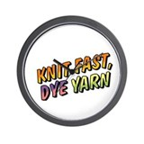 Knit Fast, Dye Yarn Wall Clock