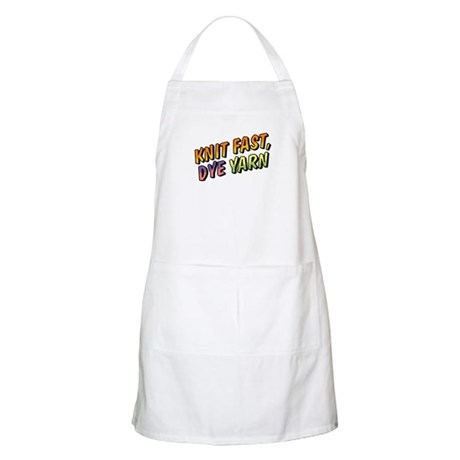 Knit Fast, Dye Yarn BBQ Apron