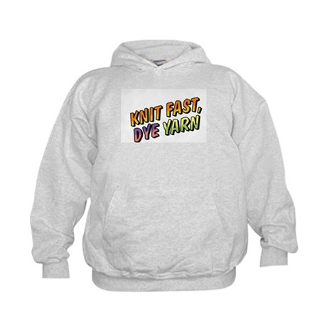 Knit Fast, Dye Yarn Kids Hoodie