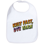 Knit Fast, Dye Yarn Bib