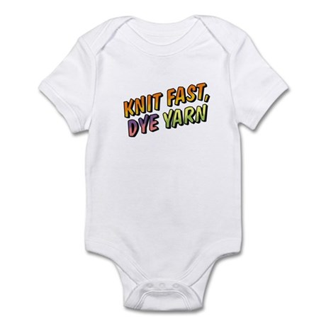 Knit Fast, Dye Yarn Infant Bodysuit