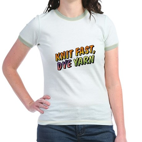 Knit Fast, Dye Yarn Jr. Ringer T-Shirt