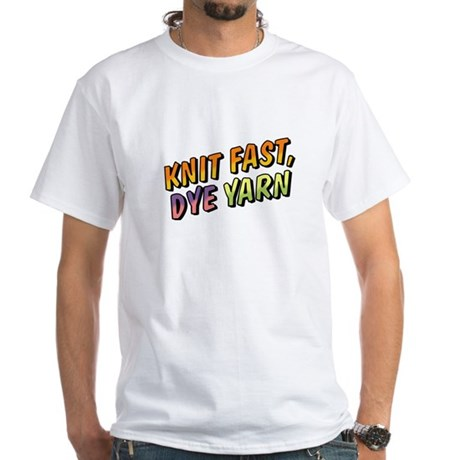 Knit Fast, Dye Yarn White T-Shirt