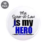 "Colon Cancer Hero 3.5"" Button (10 pack)"