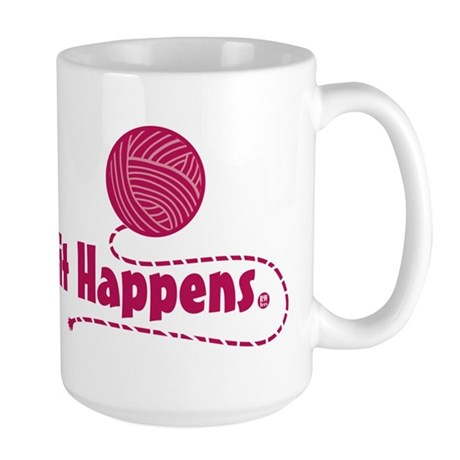 Knit Happens Large Mug