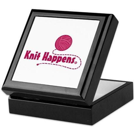 Knit Happens Keepsake Box