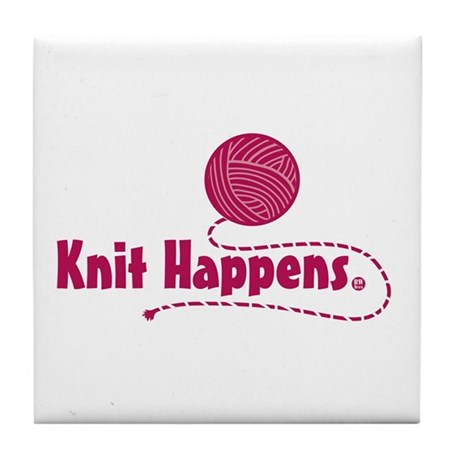 Knit Happens Tile Coaster