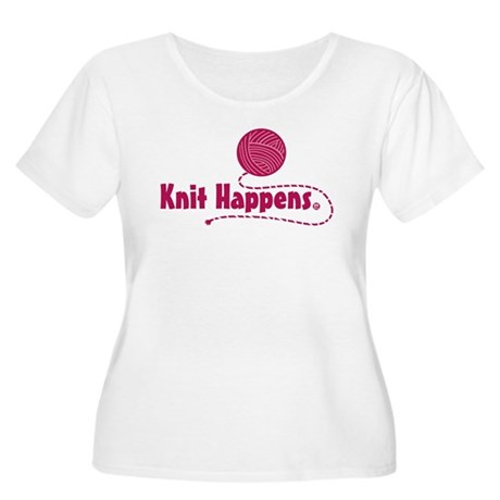 Knit Happens Women's Plus Size Scoop Neck T-Shirt