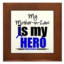Colon Cancer Hero Framed Tile
