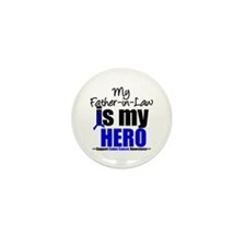 Colon Cancer Hero Mini Button (10 pack)