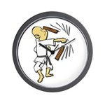 Funny Man Breaking Board 1 Wall Clock