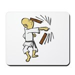 Funny Man Breaking Board 1 Mousepad