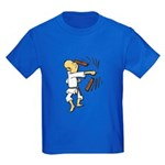 Funny Man Breaking Board 1 Kids Dark T-Shirt