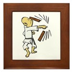 Funny Man Breaking Board 1 Framed Tile