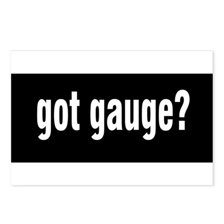 Got Gauge? Postcards (Package of 8)