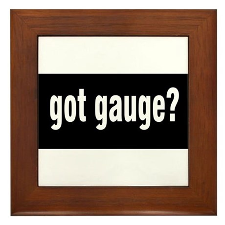Got Gauge? Framed Tile