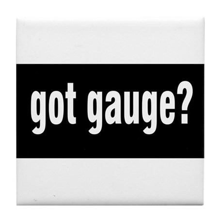 Got Gauge? Tile Coaster