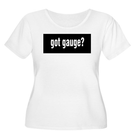 Got Gauge? Women's Plus Size Scoop Neck T-Shirt