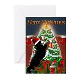 MadDog's Xmas Tree Greeting Cards (Pk of 10)