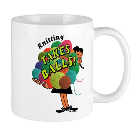 Knitting Takes Balls Mug