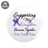 "Hodgkin's Support Daughter 3.5"" Button (10 pack)"