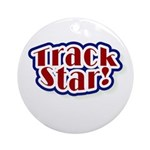 Track Star Ornament (Round)