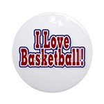 I Love Basketball Ornament (Round)