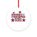 Football Star Ornament (Round)