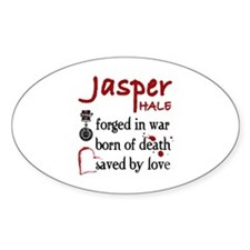 Jasper: Saved by Love Oval Decal