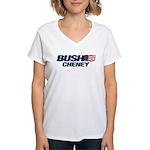 Bush Cheney Logo Women's V-Neck T-Shirt