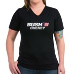Bush Cheney Logo Women's V-Neck Dark T-Shirt