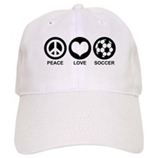 Peace Love Soccer Baseball Cap