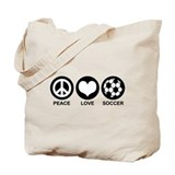 Peace Love Soccer Tote Bag