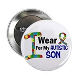 "I Wear Puzzle Ribbon 21 (Son) 2.25"" Button"