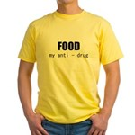 FOOD MY ANTI-DRUG Yellow T-Shirt